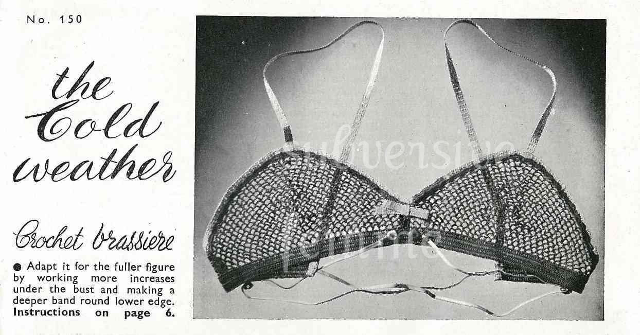 Crochet Brassiere From Stitchcraft 150 Feb 1945 Subversive Femme