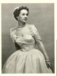 1950s summer bride magazine wedding dress shelf bust