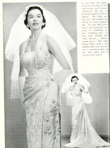 1950s summer bride magazine wedding dress Alfred Shaheen