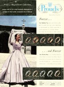 1950s summer bride magazine wedding dress ring