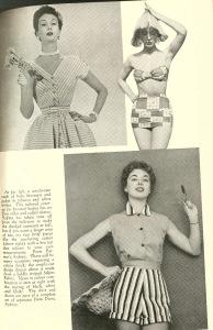 1950s wedding honeymoon bathing suit
