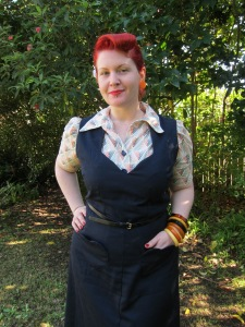 1940s jumper dress 40s plus size vintage sewing pattern xl 38