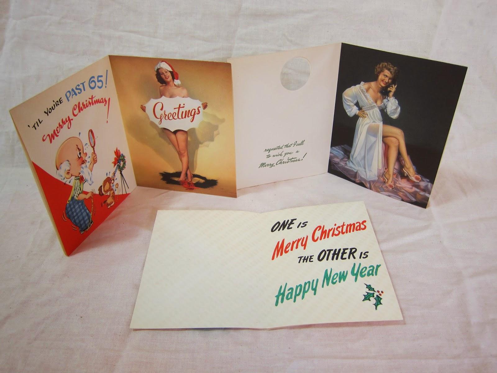 1940s risque christmas pinup cards sexy photos