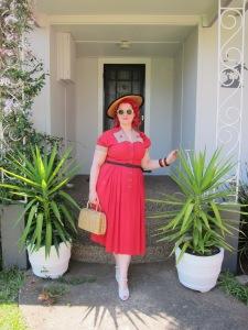 miss l fire betty white 1940s lucite wicker handbag rayon dress plus size xl large